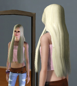 симс 3 очень длинные волосы